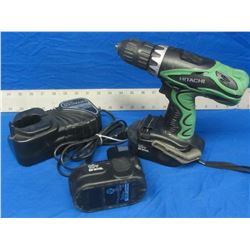 Hitachi 18 volt drill with 2 batteries
