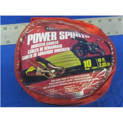 New x Battery Booster cables power sport excellent for atv or sleds