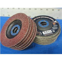 """New Flap disks 4 1/2"""" box of 10 disks"""
