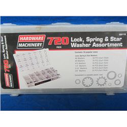 New 720 piece lock / spring and star washer