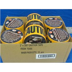 New caution tape case of 6