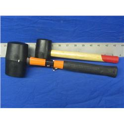 New Rubber Mallets set of 2