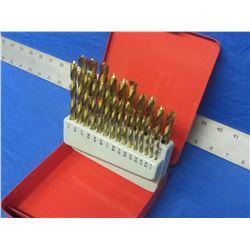 New Drill bit set of 25 in metal index box