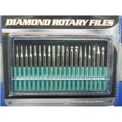 New Diamond Rotary Files 20pc.in case