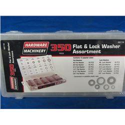 New 350piece flat&lock washer assortment