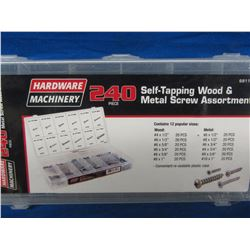 New 240 self tapping wood & metal screw assortment