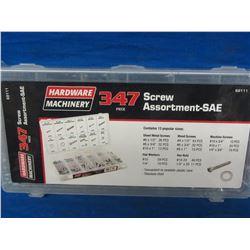 New 347 piece screw assortment