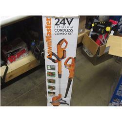 Lawn Master 24 volt cordless combo