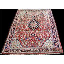 Handmade Antique Persian Sarouk rug 5x7