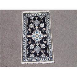 Glorious Handmade Wool/Silk Persian Nain 2x3