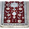 Image 3 : Fine Hand Woven Silk Blended Persian Nain rug 5x3