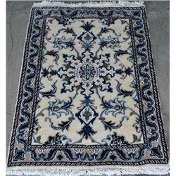 Handmade Wool/Silk Persian Nain 3x2