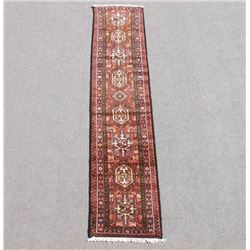 Collectible Semi Antique Persian Heriz Runner 9ft
