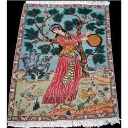 Splendid and Enchanting Fine Persian Tabriz Pictorial 3x4