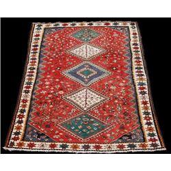 Fine Authentic Persian Shiraz Bolvardi Handmade Wool Rug