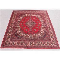 Finely Knotted Handmade Semi Antique Persian Sarouk 16x16