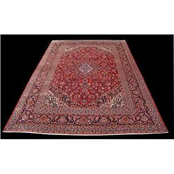Large Authentic Persian Kashan Rug