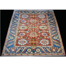Beautifully Contrasted Vividly Colored Egyptian Rug
