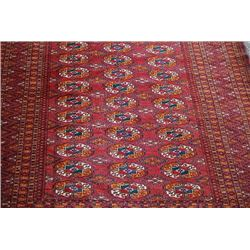 Persian Turkman Fine Knotted Rug
