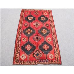 Extremely Vivid Semi Antique Wool on Wool Persian Shiraz 5x9