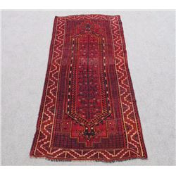 Sensational Semi Antique Wool on Wool Persian Shiraz 4x9