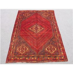 Quite Fascinating Semi Antique Wool on Wool Persian Shiraz 6x8