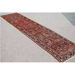 BEAUTIFULL AND AUTHENTIC SEMI ANTIQUE PERSIAN MALAYER RUNNER