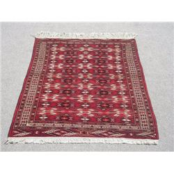 Lovely Hand Woven 4.5 X 6.4 feet Turkmen Rug