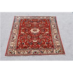 Highly Detailed Luxurious Authentic 5.0 X 6.11 feet Isfahan Rug