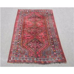 Quite Fascinating Allover Wool on Wool Semi Antique Persian Shiraz
