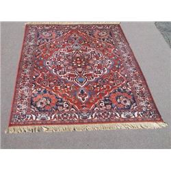 Deeply Detailed Hand Woven Persian Bakhtiari Rug 7x11