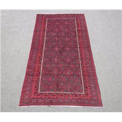 Stunning Handmade Semi Antique Allover Persian Turkmen 6x9