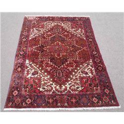 Highly Collectible Geometric Persian Heriz 7x10 ft