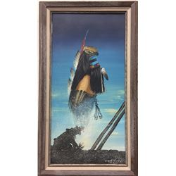 Duane Dishta, Zuni, Original Oil Painting