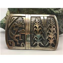 Hopi Belt Buckle - Leroy Honyaktewa
