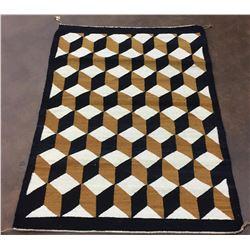 Vintage Navajo Textile - Cube Design