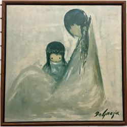 Vintage DeGrazia Canvas Transfer Print