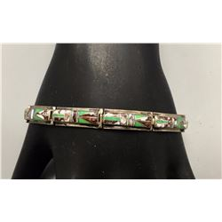 Contemporary Channel Inlay Bracelet