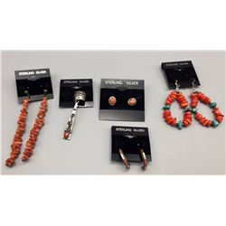 Coral Earring Lot
