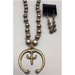 Vintage Naja Necklace and Earrings