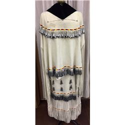 Vintage Apache Dress, Beaded and Cones