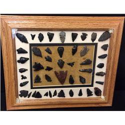 Prehistoric Arrowheads Display
