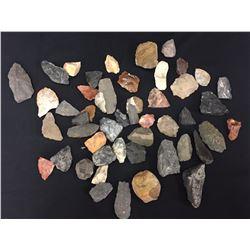 Prehistoric Scrapers, Knives, Knapping Stones, Etc.