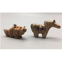 Pair of Zuni Handmade Fetishes