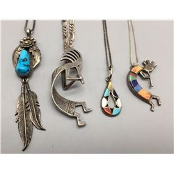 Group of 4 Native Style Necklaces