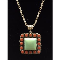 Coral and Turquoise Necklace - Melvin Perry