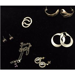 Sterling Fashion Jewelry, Earrings and Necklace