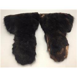 Vintage Bear Hide Gauntlets