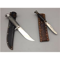 2 Fixed Blade Hunting Knives