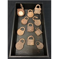Group of Antique Locks From Relics Museum
